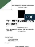 252236755 TP Mecaniuque Des Fluides Perte de Charge