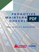 ALthoff Proactive Maintenance Checklists