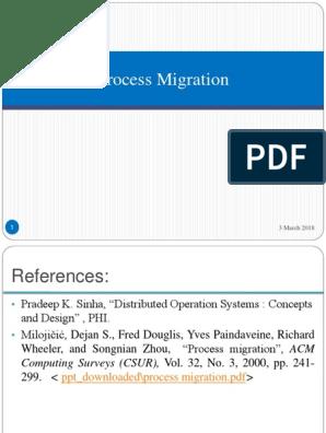 Process Migration Ppt Process Computing Central Processing Unit