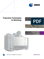 Preparation Technologies for Metallurgy