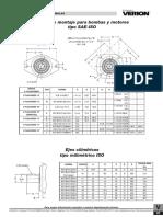 Bridas de Montaje Para Bombas y Motores Tipo SAE ISO