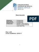 Guía Docente Composición I-IV (CSM Sevilla)