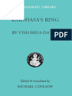 (Clay Sanskrit Library) Vishakhadatta, Michael Coulson-Rakshasa's Ring -NYU Press (2005)