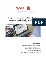 MR - Facebook effects on consumer productivity and lifestyle
