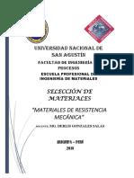 Materiales de Resistencia Mecánica SELECCIÓN de MATERIALES 1