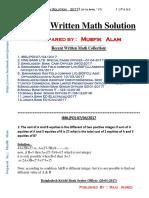 Recent_Written_Math_Solution_2017_(Up_to_April).pdf