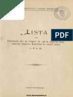 Biserica Ortodoxă Rom 1916 Supliment