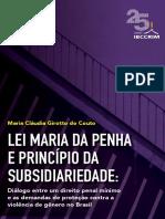 Lei Maria Da Penha e Subsidiariedade