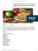#RECETA Pastel Tradicional de Frutas Para Navidad