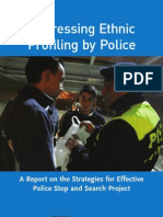 Addressing Ethnic Profiling by the Police