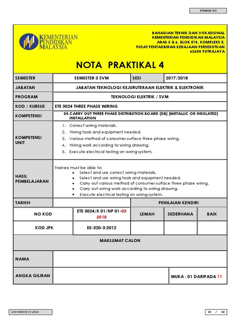 Nota Praktikal 4 Dbdocx Wiring Lampu Pendaflour