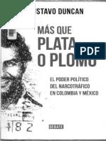 Más Que Plata o Plomo El Poder Del Narctoráfico en Colombia y México (2014)- Duncan, G.