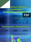 MathematicsAdvisory k5l