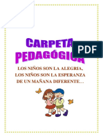 CARPETA PEDAGÓGICA 1