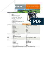 Kipor Diesel Motobomba 4x4 Partida Manual