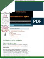 Introducción A La Tipografía - Manual De Diseño Digital Diseño Gráfico, Diseño Web, Tipografía,.pdf