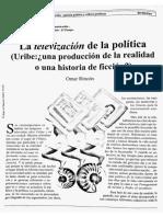Omar Rincón, La Televizacion de La Política