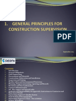 1. General Principles for Construction Supervision