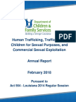 Louisiana 2018 Annual Report on Human Trafficking, Trafficking of Children for Sexual Purposes, and Commercial Sexual Exploitation