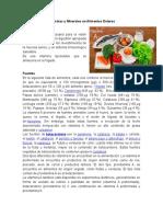 Vitaminas y Minerales en Alimentos Enteros
