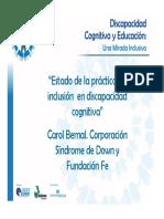 """""""Estado de La Práctica de Inclusión en Discapacidad Cognitiva"""" (Carol Bernal) - Copia"""