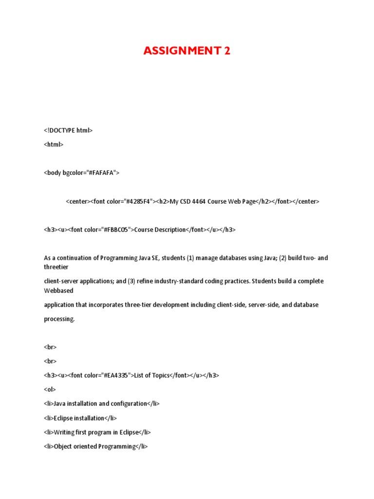 Assignment 2 | Xml | Technology