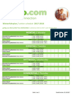 Timetable Weeze Airport Site (06.11.2017 - 24.03.2018)