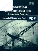 Innovation in Construction - A European Analysis.