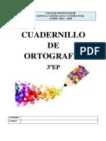 Cuadernillo Ortografia 3EP 2017-18