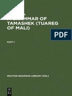 a Grammar of Tamashek (Tuareg of Mali)