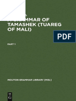 a Grammar of Tamashek (Tuareg of Mali)