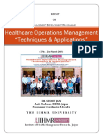 Report Healthcare Operations Management