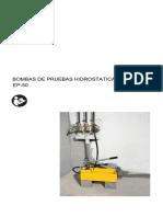 Manual Bomba de Pruebas Hidrostaticas EP-50 Espanol