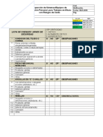 Check List Arnes, Acc, Levante