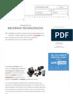 Definición de Recursos Tecnológicos - Qué Es, Significado y Concepto