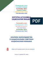 Analiza Zakonodavstva o Nacionalnim Savetima