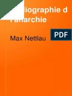 Nettlau, Max - Bibliographie de L-Anarchie