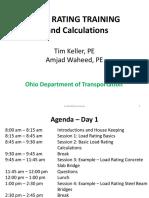 Load Rating Training Session 1