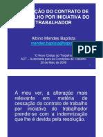 Novo Codigo Trabalho _Cessacao Do Contrato de Trabalho Por Iniciativa Trabalhador(1)