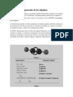 Características Generales de Los Alquinos