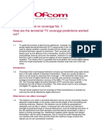OFCOM Factsheet on Coverage Prediction for DTT