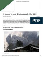 5 Bencana Terbesar Di Indonesia Pada Tahun 2015