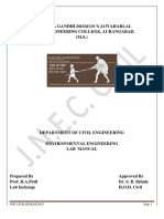 Environment Engineering-II Lab Manual