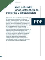 Comercio Mundial de Los Recursos Naturales.