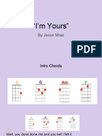im yours chord charts