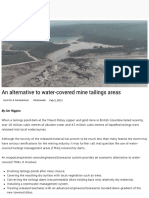 An Alternative to Water-covered Mine Tailings Areas.