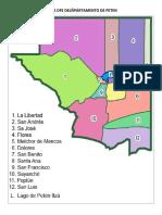 Mapa Dfe Delñpártamento de Peten