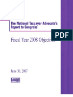 2008 objectives report to congress v2