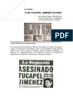 El Asesinato de Tucapel Jiménez Alfaro, por Iván Ljubetic
