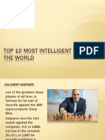 Top 10 Most Intelligent People of the World